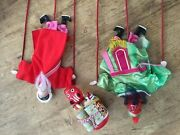 Asian Puppets - Antique Vintage Chinese Theatre Opera Dolls 3pc