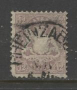 1870 German States Bavaria 12 Kr. Cote Of Arms Issue Used Signed 7200.00
