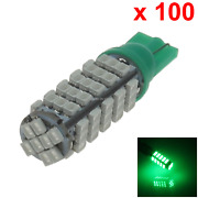 100x Green Auto T10 W5w Interior Map/dome Light 68 1206 Smd Led A051