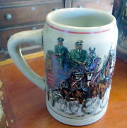 5½ Tall Budweiser Stein 1991 Clydesdales On Parade With Box