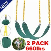 2 Pack Heavy Duty Swing Seat Set Accessories Replacement Adult Outdoor Green Usa