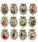 Lenox Twelve Days Of Christmas 12-piece 3.13in 7.9cm Ornaments Set New In Box