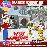 Garfield Theme Christmas Yard Signs, Large Weather Proof