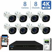 8mp 4x 1080p 4k Poe Ip Security Camera System 8 / 16 Channel Nvr Home Office