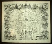 Area Of Frankfurt By Blaeu In Amsterdam 1663 Map Geographic