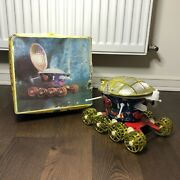 Vintage Ussr Soviet Lunochod Space Toy Lunar Rover Moon Old Battery Russian Box