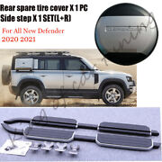 Running Board And Spare Tire Cover Fits For Land Rover Defender L851 2020 2021