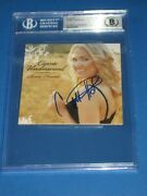 Carrie Underwood Signed Some Hearts Cd Cover Beckett Authenticated And Encap