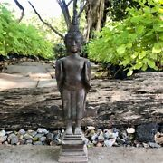 15.7 North Thai Chiang Rung Antique Buddha Statue In Pacifying The Ocean Pose