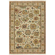 Tommy Bahama Ivory Petals Bulbs Rings Traditional-european Area Rug Floral 12301