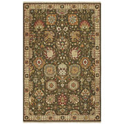 Tommy Bahama Brown Traditional-european Floral Bulbs Area Rug Bordered 12304