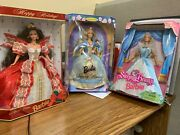 3 Vintage Barbie Doll Sleeping Beauty Collector Edition 1997 Holiday 10th Ann