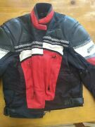 New Firstgear Motorcycle Suit W/ Hard Armor Padded Mesh Red/black Small