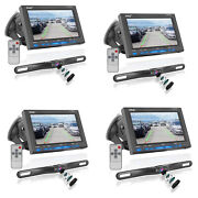 Pyle 7 Inch Rearview Car Backup Camera And Monitor Reverse Assist Kit 4 Pack