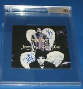 Jimmy Page And Robert Plant Signed Most High 45 Sleeve Beckett Authentic And Encap
