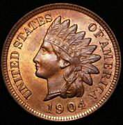 1904 Indian Head Penny Ms++++
