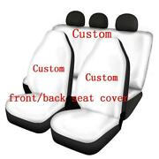 Set Of Front And Back Skull Seat Cover
