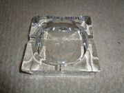 High End Lead Glass Sweden Thick Mold Large Deep Cigarette Cigar Dish Astral Etc