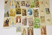 Vintage Holy Cards - Lot Of 29 Vc7