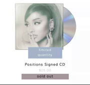 ✨ Ariana Grande Positions Sold Out Signed Cd ✨ In Hans✨ Ships Same Day Sealed