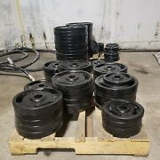 2 Olympic Weight Plates,rejects American Made Paint Defects, Limited Supply