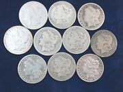Lot Of 10 X 1894-o Morgan Silver Dollars 90 Silver 1 Coin Us Ag-fine Q4g5