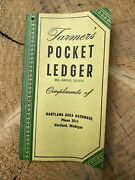 Vtg 1954 - 1955 Hartland Michigan John Deere Tractor Farmers Pocket Ledger