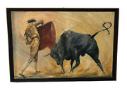 Lionel Rouse 1911-1984 Signed And Titled Pase Afarolado Oil On Board