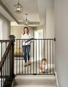 Regalo 2-in-1 Extra Tall Easy Swing Stairway And Hallway Baby Gate Black