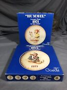 Vintage Hummel Annual Plates 1974,75 7.5 W/original Boxes Germany, Lot Of 2