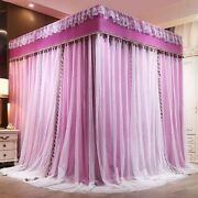 Luxury Two Floors Three Doors Square Floor-standing Lace Princess Mosquito Net