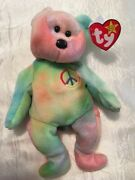 Ty Beanie Baby Peace Bear 1996 /andnbsp Style 4053 / Rare / Mint Condition