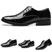 Mens Dress Formal Business Faux Leather Shoes Pointy Toe Oxfords Work Office D