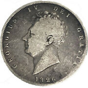 1826 Great Britain King George Iv Half Crown Silver Coin