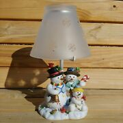 Partylite Retired Snowbell Family Tealight Lamp P7866 W/ Box
