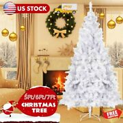 5/6/7ft Christmas Tree Artificial Holiday Faux-pine Xmas Pvc Trees Home W/ Stand