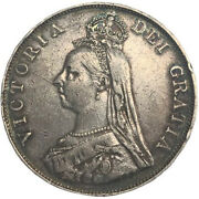 1888 Great Britain Queen Victoria Jubilee Double Florin Silver Coin