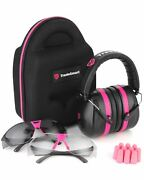 Tradesmart Protection Shooting Earmuffs And Safety Glasses Kit In Black And Pink