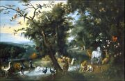 High Quality Oil Painting Handpainted On Canvas The Garden Of Eden