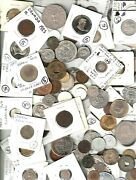 100 World Coins @ 5 Cat. Val 500 Start 20 Of Cat. Free Us Priority Shipping