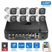 Cctv Home Security Camera System 8ch Dvr Kits Audio Record With 4mp Camera Hdmi