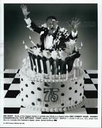 Press Photo Poster Hbo Comedy Hour Rodney Dangerfieldand039s 75and039th Birthday Toast