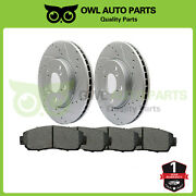 For 2005 2006 2007 2008 2009 2010 Honda Odyssey New Front Rotors And Ceramic Pads