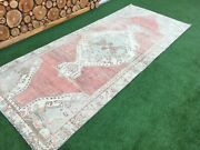 4and0396and039and039x10and0398and039and039 Vintage Turkish Rugoushak Large Runner Rugantique Ushak Carpet
