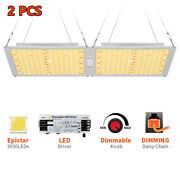 2x V99grow 3000w Led Grow Light Panel Sunlike Full Spectrum For All Stage Plant