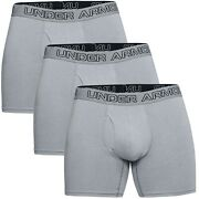 New Three Pack Menand039s Under Armour Stretch Charged Cotton Boxer Jock Boxer Briefs