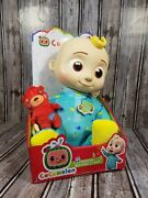 """Cocomelon Musical Jj Bedtime Jj 10"""" Soft Plush Doll Brand New In Hand Now"""
