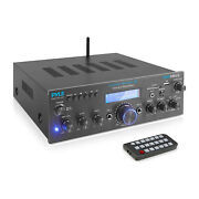 Pyle Compact 200 Watt Bluetooth Home Stereo Amplifier Receiver System 2 Pack