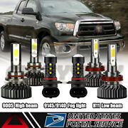 For 2007-2013 Toyota Tundra Combo H11 9005 9145 Led Headlight Fog Light Bulbs Us