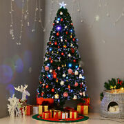 6and039 Pre-lit Fiber Optic Artificial Christmas Tree Colorful Led Lights Decorations